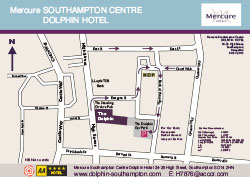Mercure Southampton Centre Dolphin Hotel car park map